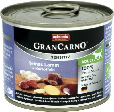 Animonda GranCarno Adult Sensitive Lamm + Kartoffeln 6x200g
