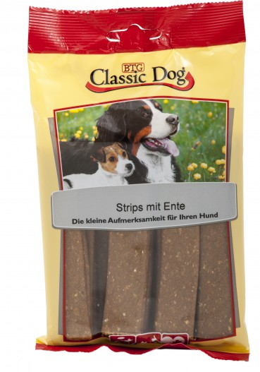 Classic Dog Snack Strips mit Ente 12x20er