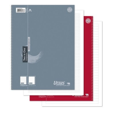 Ursus Collegeblock Two In One A4 80 Blatt 70g/m² kariert_liniert