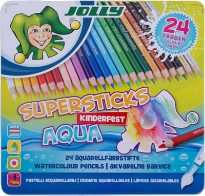JOLLY Buntstift Supersticks Aqua im Metalletui 24 Stück