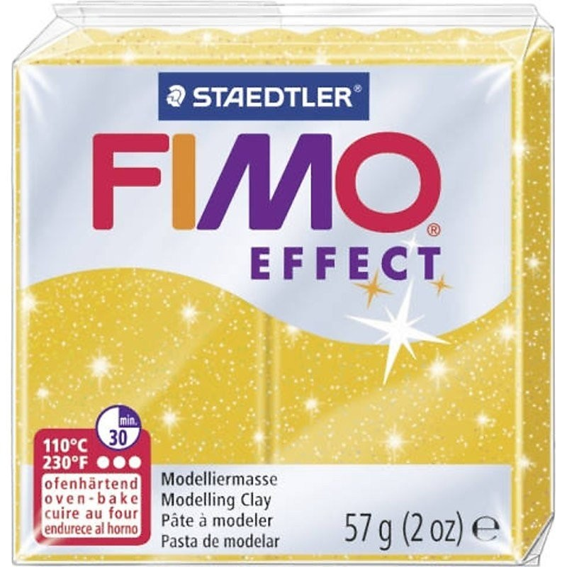 Glitter Gold Fimo 57g Soft Modelling Clay
