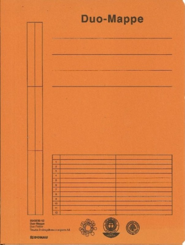 Donau Duo Mappe 8645030 ORANGE