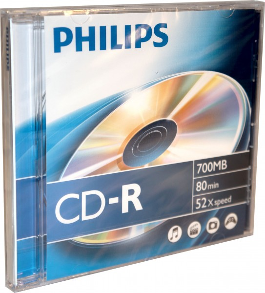 Philips CD-R Rohlinge 80Min 700MB 52x 10er Jewel Case