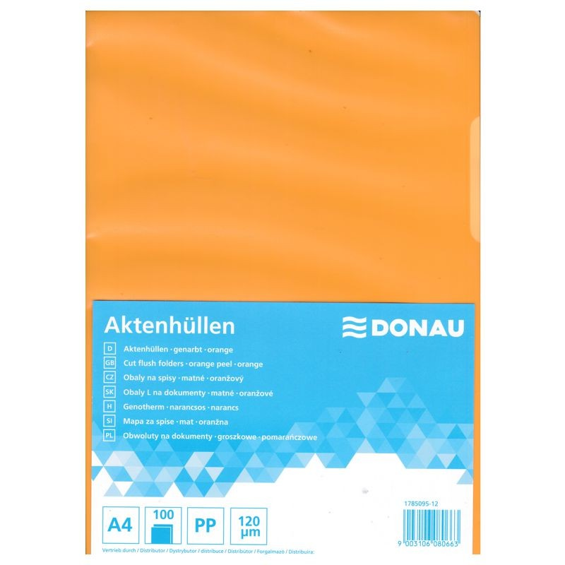 Donau Aktenhülle A4 PP 120µm orange
