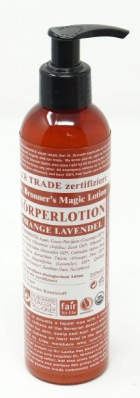 Dr. Bronner's Bio Körperlotion Orange-Lavendel 240 ml