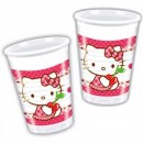 Hello Kitty Herz Partybecher Plastik 200ml 8er