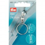 Prym Fashion-Zipper Ring silberfarbig