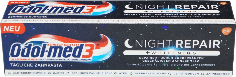 Odol-med 3 Night Repair + Whitening Zahncreme 75ml