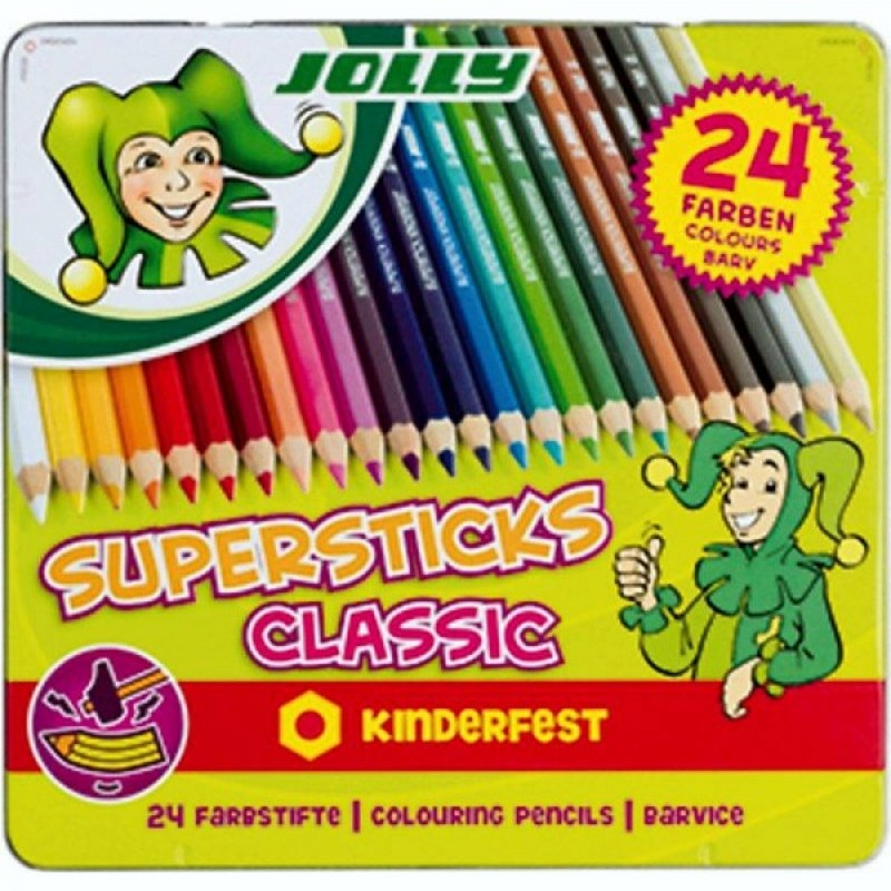 JOLLY Buntstifte 3000 Supersticks Classic 24 Stück im Metalletui